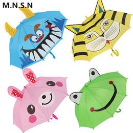 Umbrellas Cute NZ - Cute Animal Cartoon Kids Umbrella Children 3D Ear Modeling Long Handle Paraguas Frogs Bees Rainproof Umbrella Boys Girls Gift YF