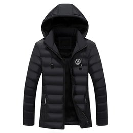 Discount new wave clothing - Bolubao New Men Winter Jacket Brand Clothing Fleece Lined Outerwear Headphone Hoody Warm Coats Cotton Padded Male Hooded