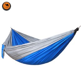 double folding hammock 260 140cm high strength portable camping furniture outdoor travel kits stit hamac hamaca folding camping furniture nz   buy new folding camping furniture      rh   nz dhgate