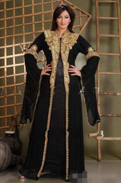 $enCountryForm.capitalKeyWord NZ - 2019 Long Arabic Crystal Beaded Islamic Dresses for Women Abaya in Dubai Abaya Kaftan Muslim Arabic Evening Dress Party Wear Prom Gowns