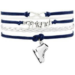 $enCountryForm.capitalKeyWord Canada - Ice Skate Shoe Friend Figure Skating Sports Infinity Love Charm Bracelets Silver Women Men Boy Girl Unisex Adjustable Jewelry