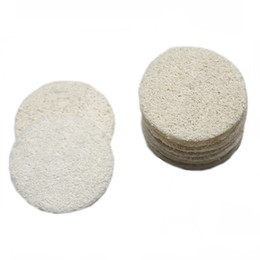 China Natural Loofah Facial Pads Loofah Disc Makeup Remove Exfoliating Face Loofah Pad Small Size Luffa Loofa cheap natural face cleaner sponges suppliers