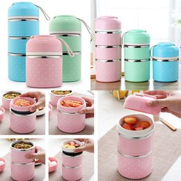 Wholesale New Stainless Steel Lunch Box Portable Cute Japanese Lunchbox Adult Children Insulation Leak Proof Box Travel Picnic Dinnerware WX9