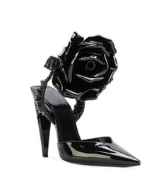 Wholesale Sexy High Heels Sandals Stylish Black Flower Women Pumps Evening Party Dress Shoes Night Out Clubwear Sandals Stylish Stiletto Heels