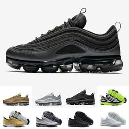 white man sneakers 2019 - Cheap Men women Running Shoes Japan Silver Gold Bullet Triple White Black Mens Sports 97 running shoes Sneakers US5.5-11