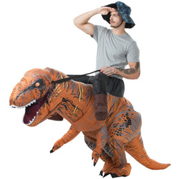 Christmas Jumpsuit Costumes NZ - nime Costumes Adult T-REX Inflatable Costume Christmas Cosplay Dinosaur Animal Jumpsuit Halloween Costume for Women Men MASCOT Free Shipp...