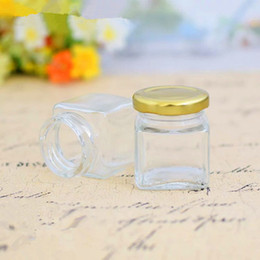 $enCountryForm.capitalKeyWord Australia - 45ml square glass storage bottles jars with lid honey candy jar kitchen storage container glass jar F1048