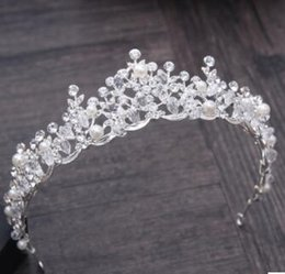 wedding day hair accessories 2019 - Korean brides, crystal crown, headwear, wedding dress, wedding accessories, luxury Baroque drill hair hair ornaments. di