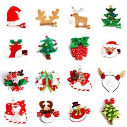 $enCountryForm.capitalKeyWord Australia - 10pcs Christmas Tree Gloves Hair Clip Wool Felt Snowman Hairpin Duckbill Bb Clips Rim Sweet Hair Accessories For Girls Headdress Kids Gift