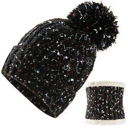Discount balaclava knitting - Women Scarf Winter Sets Cap Mask Collar Face Protection Girls Accessory Women Ball Scarf Balaclava Knitted Hat and Hat S