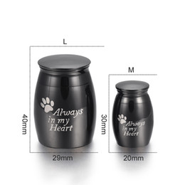 jewelry personalized necklaces Canada - Personalized Mini Funeral Casket Jewelry for Pet Stainless Steel Cremation Ashes Keepsake Dog Paw Print Memorial Urn Pendant