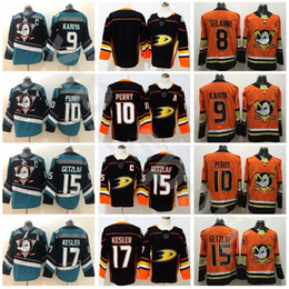 2090abc86 Anaheim Ducks 10 Corey Perry 15 Ryan Getzlaf Jersey Stadium Series Black  Teal Alternate 17 Ryan Kesler 8 Teemu Selanne 9 Paul Kariya