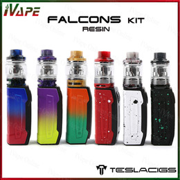 Silicon plugS online shopping - 100 Tesla Falcons Kit with Resin Tank ml ml Falcons Mod Built in mah Battey New TS XX Coil Plug n Pull Coil installation Design