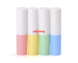 smallest lipstick UK - 200pcs lot Fast Shipping Empty Lipstick Tube Ivory Plastic Lip Balm Container Small Cosmetic Lipstick Gloss Sub-bottling