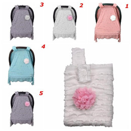 Lovely Baby Car Flower Seat Cover For Girls Boys Lace Infant Carseat Canopy 9575cm 5 Styles