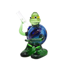 TurTles pipes online shopping - Newest Mini Pipe Glass Colorful Turtle Shape High Quality High Temperature Resistance Smoking Hand Made Pipe Tube Unique Design