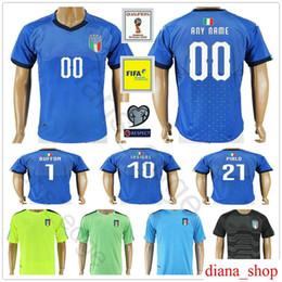 2018 Italy World Cup Jersey INSIGNE ZAZA EL SHAARAWY PIRLO MARCHISIO De  Rossi Bonucci Verratti Buffon Custom Italia Soccer Football Shirt discount  pirlo ...