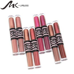 $enCountryForm.capitalKeyWord UK - MK Brand 24 Hours Waterproof Long Lasting Double Head Liquid Lip Gloss Moisturizer Lipstick Glitter Shimmer Matte Lipstick