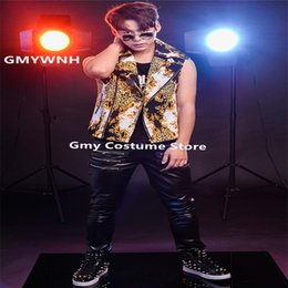 407a6b259 R23 Male ballroom dance costumes dj stage jacket Leopard jazz Vest singer  performance outfits bar dress clothe party show disco rave music