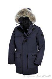 Chinese  Men's Brand WINTER thick Warm Jacket CAN-Expedit-p Down & Parkas Big coyote Fur Collar White goose down Outerwear & Coats WITH FUR HOOD manufacturers