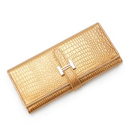 phone holder square UK - 2018 Europe and United States Ladies Long Wallets PU Alligator Purse Cowhide 3D Crocodile Wallet Coin Pocket Phone Clutch Bag