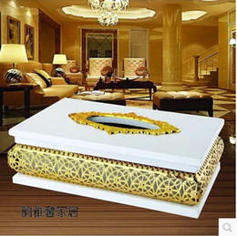 $enCountryForm.capitalKeyWord NZ - Home decoration, hotel decoration European luxury gold-plated metal tissue box, wooden tissue box ZJH005