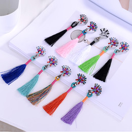 Trendy Wedding Gifts Canada - Trendy Jewelry Tassel Long Earring For Women Christmas Gift Party Wedding stud Earrings Statement Wholesale Mix Colors