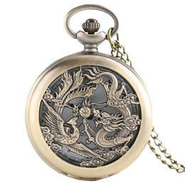 Watches Hot New Chinese Zodiac Bronze 3d Smart Monkey Playing Pattern Quartz Pocket Watch Necklace Chain Carving Back Womens Men Gifts