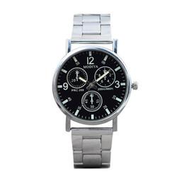 $enCountryForm.capitalKeyWord NZ - Men Watches Megir Black Noodles Steel Blue Glow Glass Sport Watch Reloj 2018 Luxury Top Brand Bracelet Watches Wrist 18Jul17