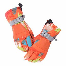 windproof waterproof touch screen gloves UK - Runature Waterproof Kids Winter Warm Skiing Gloves for Women Men Cycling Windproof Screen Touch Ski Gloves Snowboarding