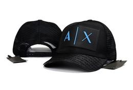 Discount branded baseball mesh caps - Hot AX Adjustable Men Women Summer Mesh Cool Caps Fashion Mesh Sun Hats Brand Design Baseball Hat Snapback Hats Unisex S