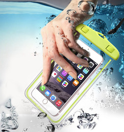 Iphone under water online shopping - Universal Waterproof Beach Bag Case For iPhone X case Luminous Transparent Pouch For Samsung LG Under inch Phone For Samsung LG