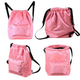 102706c34a Swimming WaterProof Wet and Dry Separation Cord Backpack women s casual  Drawstring Beach bag