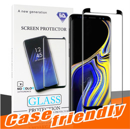 BuBBles case online shopping - For Samsung S10 G version S9 S9 plus Case Friendly NO HOLE Tempered Glass Bubble Free Full Cover D Screen Protector For Samsung S8 S7