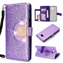 SamSung galaxy e5 flip coverS online shopping - Sparkle Wallet Leather Case For MOTO G6 Play E5 Plus Galaxy A7 J6 J4 Plus Bling Diamond Mirror Glitter Sparkly Flip Cover Phone Purse