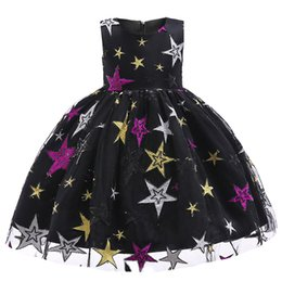 $enCountryForm.capitalKeyWord UK - Cheap Sequin Flower Girl Dresses Toddle Pageant Dresses Ankle Length Organza For Garden Wedding Navy Blue little girls pageant dresses