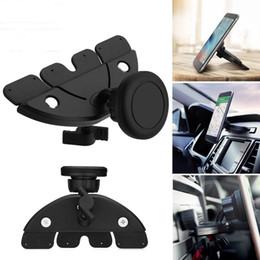 Black Universal Tablet Stand NZ - Universal Magnet Car CD Slot Holder Mount Stand For GPS MP4 5 & Tablet Phone 360° adjustable