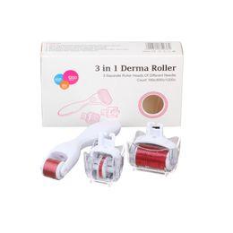 Titanium Eye Derma Roller Australia - Hot Selling Home Use Personal Care Eye Face Body 3 Function In 1 Titanium Needles Derma Roller Kit