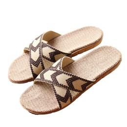 4685216fd2e7ca 2017 Hot New Summer Men Linen Slippers Brand Quality Flat Ribbon Non-Slip  Indoor Flax Slides Home Sandals Man Ethnic Beach Shoe