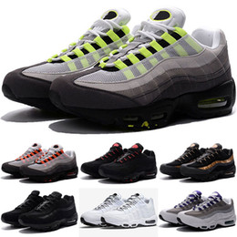 Chinese  2018 New Cheap Mens sports 95 running shoes,Premium OG Neon Cool Grey sporting shoes sneakers Running Shoes size 40-46 US 7-12 manufacturers