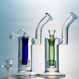 $enCountryForm.capitalKeyWord Australia - 8 Inch Mini Glass Bongs Reti Perc Water Pipe Two Cylinders Oil Dab Rig Bubblers Blue Green Hookahs With Glass Bowl WP109
