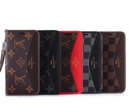 Vente en gros logo en cuir housse pour iphone x 8 8 plusFashion chic Célèbre marque de téléphone portable cas pour iphone 6 / 6s plus