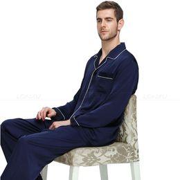 45276176ba Mens Silk Satin Pajamas Set Pajama Pyjamas Set Sleepwear Loungewear  S
