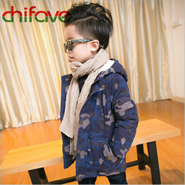 Baby Camouflage Jackets Australia - chifave New Winter Children Boys Cotton Padded Warm Coat Suit for Kids Boys Hooded Zipper Camouflage Outerwear Baby Boys Jacket