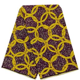 La última calidad Nigeria Ankara Cera africana Estampados de tela Hollandais Cera Tejido Ceras holandesas 100% algodón vestido de novia / vestido de noche Cera de tela