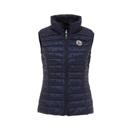 China jott female down jacket, top quality jott down vest with star pattern cheap vest top printing suppliers