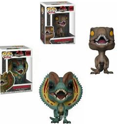 Toy boy movie online shopping - Funko POP Figure toy Movies Jurassic Park Dilophosaurus Dinosaur Figure Action Figure Boy toys for children birthday Gift KKA6125