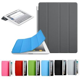 Discount new ipad magnetic covers - Fashion Ultra Thin Magnetic Leather Smart Cover Case for IPad 234 mini 1234 iPad Air Air2 new Ipad9.7 2017 2018  ipad Pr