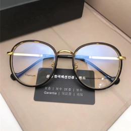 200109fbc9c 2018 New Vintage Round Optical Eyewear Import Titanium Frame Ultralight  Glass Korean Design Fashion Myopia Sunglass Frame With Retail Box