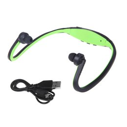 $enCountryForm.capitalKeyWord NZ - New Style Sport MP3 WMA Music Player TF  Micro SD Card Slot Wireless Running Headset With Earphone No Bluetooth Green Blue Color
